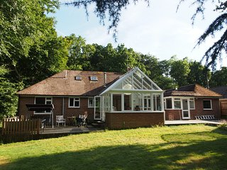 Rear of the house with conservatory