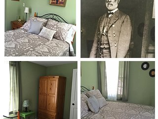 'The General Lee Room,' shared full bath hallway