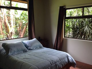 This is the Master bedroom with native plants surrounding.