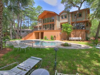 Oceanfront on HHI's Best Beach New 5 Bedroom Home