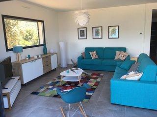 villa T3, vue mer à 200 m plage, climatisée, wifi