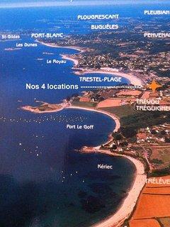 Nos locations avec vue sur mer sont situées à 50m de la plage de sable fin