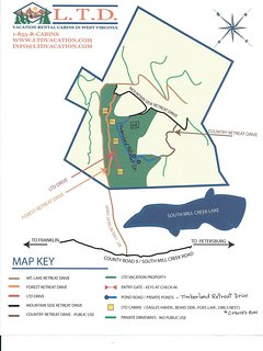 Map of property-13 miles south of Petersburg off of South Mill Creek Rd/CR 9.