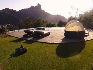 Casa con piscina climatizada en Tejeda
