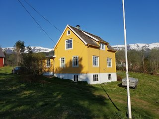 Villa between fjord and mountains, Sandane