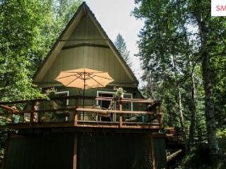 Getaway in the Woods of North Idaho Dog's Welcome