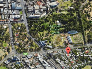 Google 3D shows just how close 8 Osborne is to the CBD East End