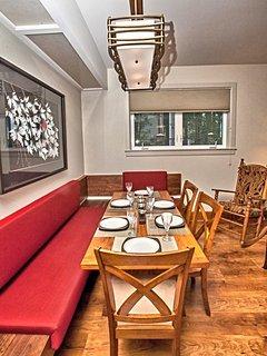 custom built dining area