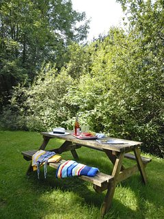 Pwllgwealod holiday log cabin - woodland setting