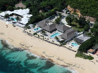5 bedroom beachfront estate on Baie Rouge, Terres Basses