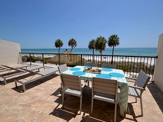 Ocean Sands 2-302   Totally Renovated Gulf Front condo with HUGE Balcony!, Madeira Beach