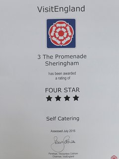 Quality in Tourism 4-star award self-catering July 2016
