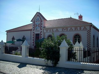 The front of Quinta da Vila Maria with its unusual architecture and Art Deco features