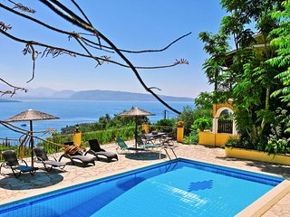 Villa Theresa with private pool above San Stefanos, Kassiopi
