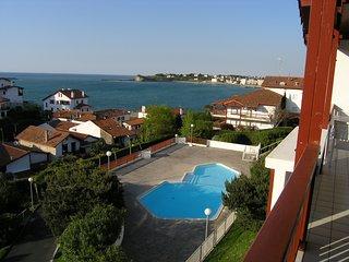 T3 de standing, WIFI, magnifique vue baie&piscine, Ciboure