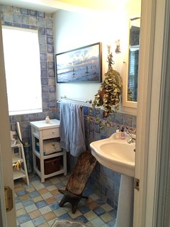 Downstairs bathroom with enclosed shower