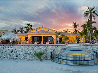 Welcoming Beach Front Hacienda Located In Town.