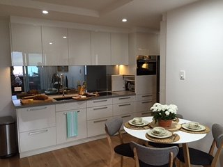 This kitchen caters for all your needs and you can see the bay while cooking.