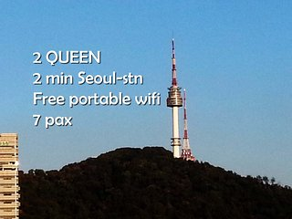 2QUEEN. 2min Seoul-stn. 7pax. Center, Séoul