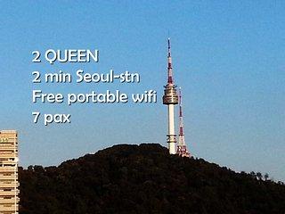 2QUEEN. 3min Seoul-stn. 7pax, Séoul