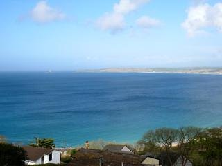 Breathtaking view from sitting room window of St Ives Bay and Carbis Bay beach.