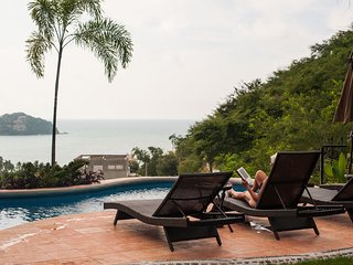 Sayulita Palapa Paradise-Ocean views, Private Heated Saltwater pool