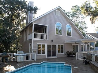 5BR Marsh Beach Home w/ Pool, Hot Tub, Gameroom, Johns Island