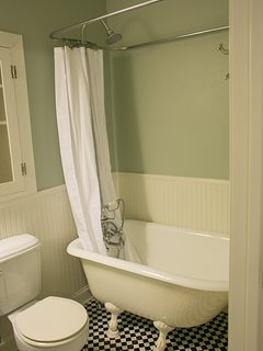 Bathroom #1...ensuite in Master bedroom with Clawtub/shower.