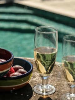 No day is complete at Cal Florit without a poolside vermut of cold cava and snacks.