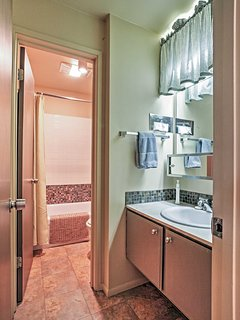 This full bathroom is one of 2, allowing for ultimate comfort and convenience.