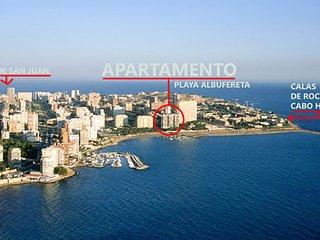 Apartamento en 1ª línea de playa en la Albufereta