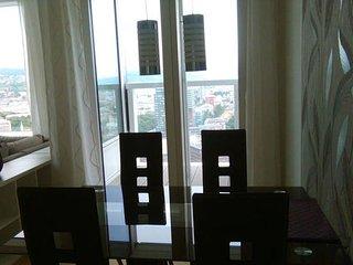 PANOARAMAview/31thFloor/FreeParking/Wifi/LUXURY, Bratislava