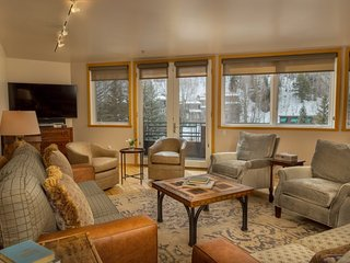 Bright, spacious penthouse condo located in the heart of Telluride - ALL NEW DECORATOR quality furniture and bedding linen
