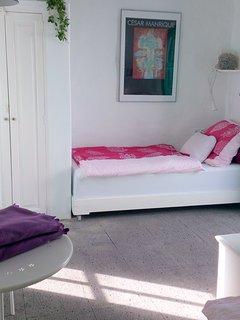 Dormitorio con la variante de las camas seperadas