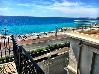 3 pièces, PROMENADE DES ANGLAIS, balcon vue mer!, Niza