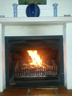 A wood fire place for those cool winter evenings