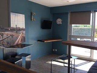 Studio bord de mer au fort bloqué dans résidence, Ploemeur