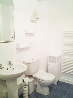 Newly Decorated Bathroom with Bath, Mira Shower and Large Heated Tower Rail. Egyptian Cotton Towels.