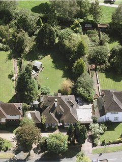 Aerial view of back garden