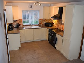 Kitchen with Rangemaster oven.