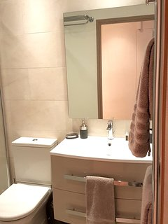 Lux bathroom with Italian shower.