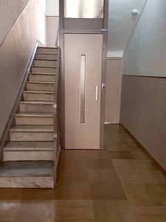 Elevator on the ground floor (rare).