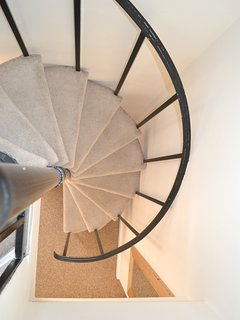 Beautiful spiral staircase.