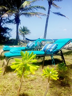 Relax on our hammocks or sun loungers