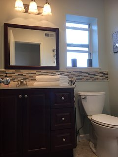 Newly remodeled bathroom with all new fixtures