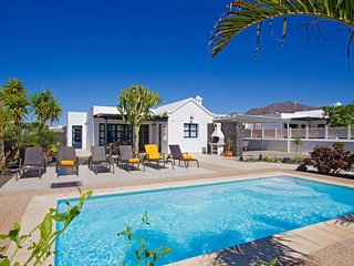 Pool view facing villa