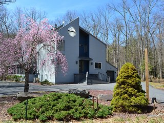 Creek-front, Modern House with Volleyball court, Bushkill