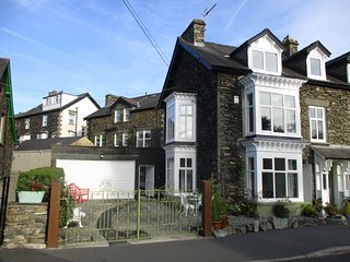 Lodge by Lake Windermere, Windermere, Lake District National Park, Cumbria, U.K.