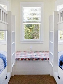 Large bay window with a beautiful forest view