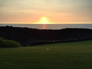 The sun sets every night right in front of your lanai